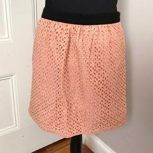 Peach mini/midi skirt from LOFT
